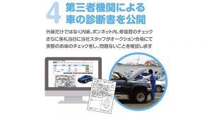 第三者機関による車の診断書を公開